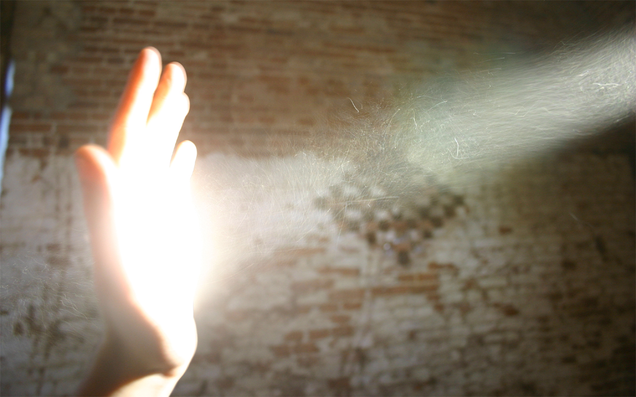hand in light