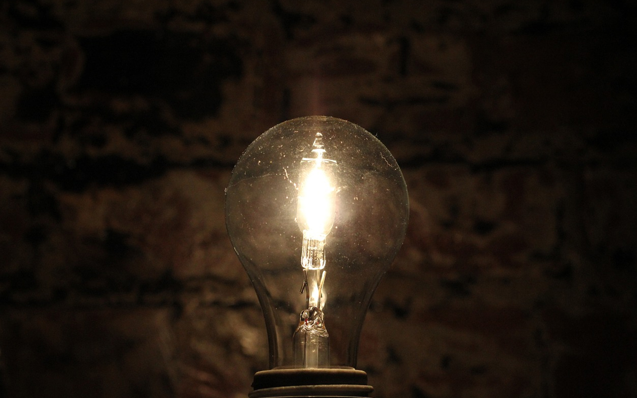 light bulb stone